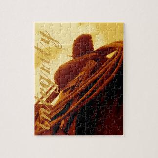 西部の素朴なロープをかけるサドルの芸術 ジグソーパズル