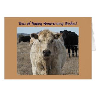 西部の結婚記念日の牛群れ カード