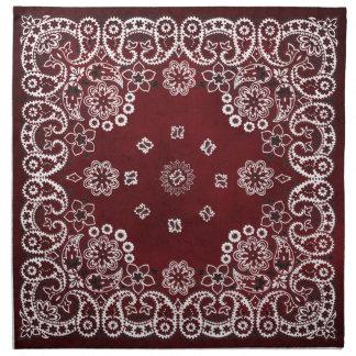 西部の赤いバンダナのテーブルナプキン ナプキンクロス