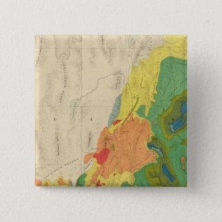 西部の部分の地質地図 5.1CM 正方形バッジ