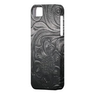 西部の革用具のプリントのiPhone 5の場合 iPhone 5 ベアリーゼアケース