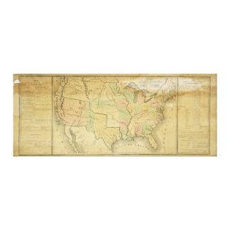 西部の領域1848年を含む米国 キャンバスプリント