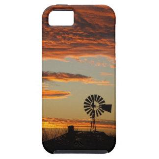 西部の風車の日没 iPhone 5 CASE