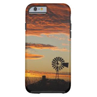 西部の風車の日没 iPhone 6 タフケース