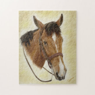 西部の馬のパズル ジグソーパズル