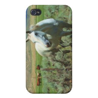西部の馬の絵画 iPhone 4/4S ケース