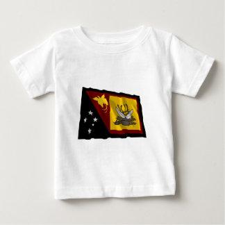 西部の(はえの川の)地域の振る旗 ベビーTシャツ