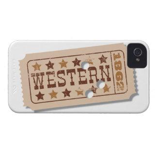 西部劇映画のチケットのブラックベリーの箱 Case-Mate iPhone 4 ケース