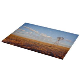 西部日没のまな板の風車 カッティングボード