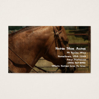 西部馬の靴のエーカー 名刺