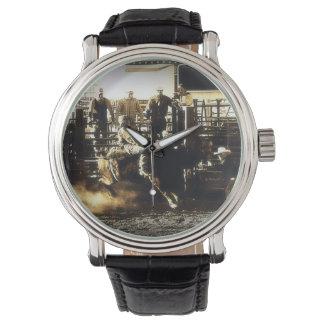 西部Bullの乗馬のロデオのカウボーイの国 腕時計