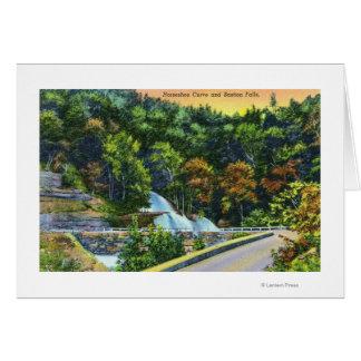 要塞の滝の蹄鉄のカーブの概観 カード