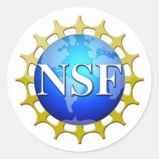 要求によるNSFのロゴ ラウンドシール