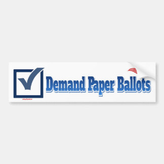 要求の紙投票 バンパーステッカー