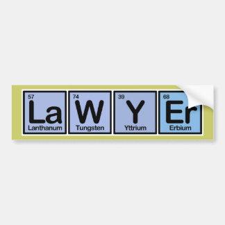 要素から成っている弁護士 バンパーステッカー