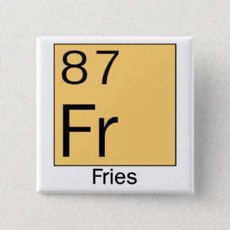 要素の周期表: フライドポテト。 缶バッジ