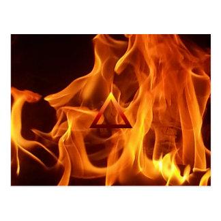 要素の火災標識 ポストカード