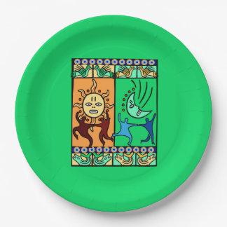 要素のKwanzaaの伝統的なパーティーの紙皿 ペーパープレート