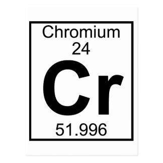要素024 - Cr -クロム(完全な) ポストカード