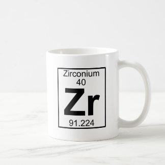 要素040 - Zr -ジルコニウム(完全な) コーヒーマグカップ