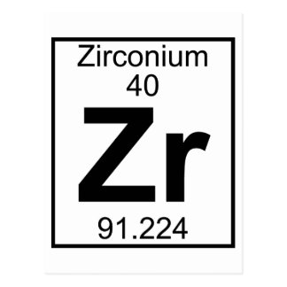 要素040 - Zr -ジルコニウム(完全な) ポストカード