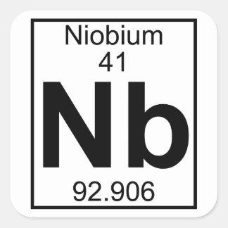 要素041 - Nb -ニオブ(完全な) スクエアシール