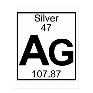 要素047 - Ag -銀(完全な) ポストカード