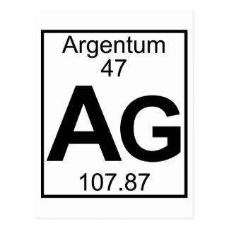 要素047 - Ag - Argentum (完全な) ポストカード
