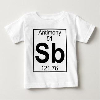 要素051 - Sb -アンチモン(完全な) ベビーTシャツ