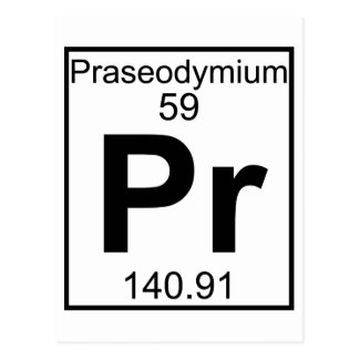 要素059 - Pr -プラセオジム(完全な) ポストカード