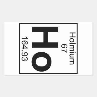 要素067 - Ho -ホルミウム(完全な) 長方形シール