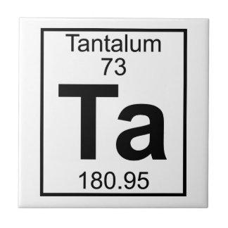 要素073 - Ta -タンタル(完全な) タイル