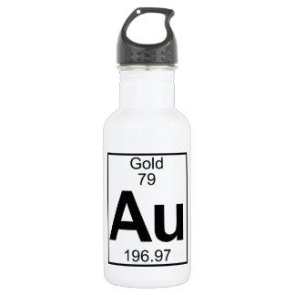 要素079 - Au -金ゴールド(完全な) ウォーターボトル