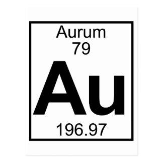 要素079 - Au - Aurum (完全な) ポストカード