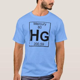 要素080 - Hg -水星(完全な) Tシャツ