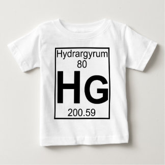 要素080 - Hg -水銀(完全な) ベビーTシャツ