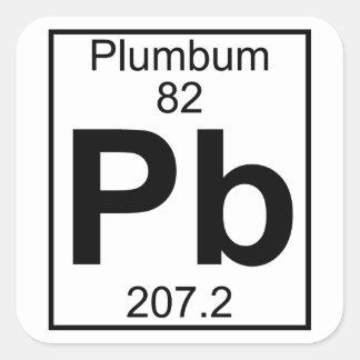 要素082 - Pb - Plumbum (完全な) スクエアシール