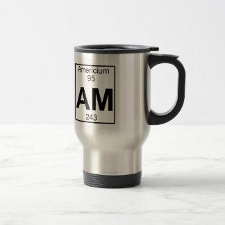 要素095 - AM -アメリシウム(完全な) トラベルマグ