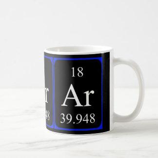 要素18のマグ-アルゴン コーヒーマグカップ