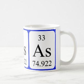 要素33の白のマグ-ヒ素 コーヒーマグカップ