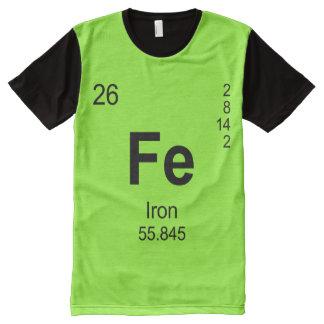 要素(鉄)の周期表 オールオーバープリントT シャツ