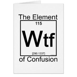 要素WTF カード