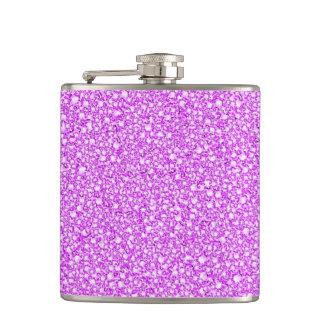 覆われたピンクのダイヤモンドの一見のグリッターの軽い音 フラスク