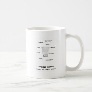 見えない病気の液体 コーヒーマグカップ