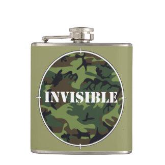 見えない軍隊の緑のカムフラージュのフラスコ フラスク