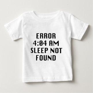 見つけられない間違いの4:04 AMの睡眠 ベビーTシャツ