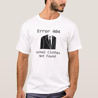 見つけられない間違い404のフォーマルな衣服 Tシャツ