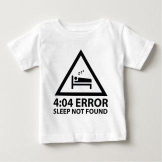 見つけられない4:04の間違いの睡眠 ベビーTシャツ