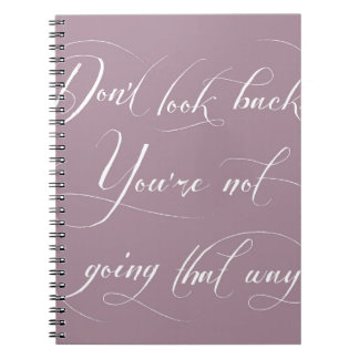 見ないで下さい。 あなたはあちらの方に行きません ノートブック