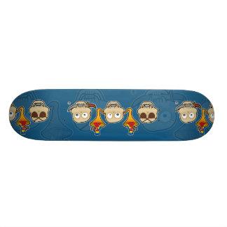 見ないで下さい、聞いて下さい、海賊スカル猿を話して下さい 20.6CM スケートボードデッキ